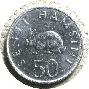 elf Tanzania 50 Senti 1989 Rabbit