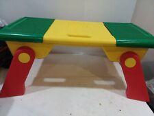 Lego Storage Play Lap Portable Activity Table w/ Sliding Baseplates Folding Legs