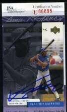 VLADIMIR GUERRERO 1998 UPPER DECK JSA Certed Autograph Authentic Hand  ID: 47880