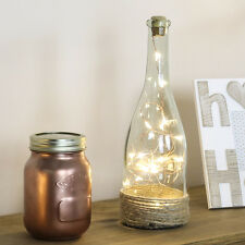 INDOOR BATTERY OPERATED WARM WHITE BOTTLE COPPER WIRE FAIRY STRING LED LIGHT