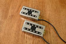 HUMBUCKER PICKUP SET ALNICO 5 MAGNET FILTERTRON STYLE CHROME FOUR CONDUCTOR WIRE