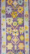2.1x3m Vintage Turco Tejido A Mano Oriental Diseño Tradicional Multicolor Área Other