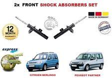 pour Citroen Berlingo Peugeot Partner 1996-2015 AMORTISSEUR AVANT Shocker SET