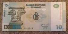 Congo Banknote. 10 Francs. Unc