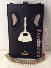 Kate Spade Ma Cherie Antoine Bulldog iPhone Leather Case Sleeve Crossbody Bag