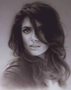 "Salma Hayek Limited Edition Fine Art Print 8.5x11"" Framed"