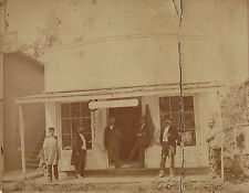 RARE Albumen Photo 1890s Harness Store Shop - Naples NY - ID'd Men