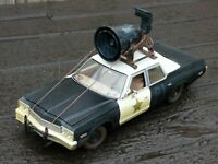 JoyRide Blues Brothers Bluesmobile 1:18 1974 Dirty Dodge Monaco Police Toy Car