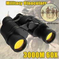 60X60 Zoom Day/Night Vision Outdoor HD Binoculars Hunting Telescope+Case SET US