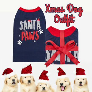 Dog Pet Puppy Small Top Christmas Xmas Jumper Costumes for Small Dogs Outfit UK