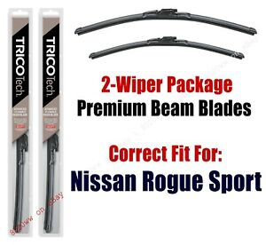 Wipers 2-Pack Premium Beam Wiper Blades fits 2017+ Nissan Rogue Sport 19280/180