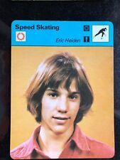 ERIC HEIDEN 1977 Sportscaster Card #14-16 SPEED SKATING