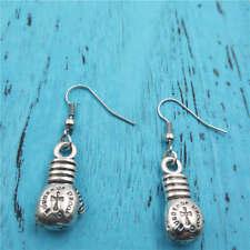boxing glove Silver earrings,women Fashion pendants ear stud handmade jewelry