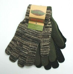 QuietWear Grip Dot Assorted Multi Color Knit MAGIC Gloves 3 Pack Youth-Adult 2XL