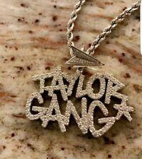 10k Gold Finish Taylor Gang Hip Hop Style Sterling Silver Pendant