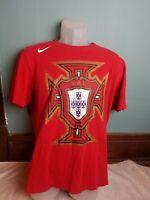 Nike Portugal Soccer TShirt Red Futbol Football Men's Large L World Cup