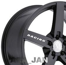 4 - RACING Wheels Decal Sport Vinyl rims wheel sticker logo WHITE