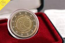 2 Euro Belgien 2009 PP 10 Jahre WWU / EMU Auflage: 6000