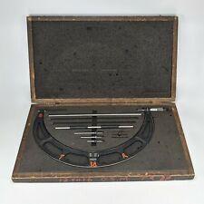 Starrett 224 12 16 Interchangeable Anvil Micrometer With Case Amp Standards Vintage