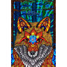 Electric Fox POSTER 61x91cm NEW * Art Creative Spirit Animal Forest Pattern