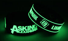 Asking Alexandria Linkin Park A7L7 New! 2x Bracelet Wristband Glow in the Dark