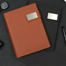 A5 Business Leather Cover Journal Classic Notebook Lined Paper Diary Planner