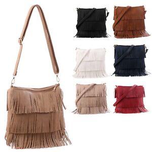 New Ladies Fashion Tassel Fringe Shoulder Bag Crossbody Bags for Women or Girls