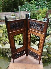 More details for antique screen bamboo and inlaid decoration