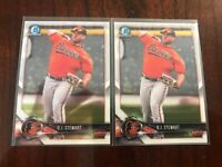 LOT (2) 2018 BOWMAN CHROME PROSPECTS RC D.J. STEWART BALTIMORE ORIOLES - H2445