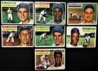 1956 Topps Cincinnati Redlegs Partial Team Break~7 VINTAGE Cards~Fair Condition!