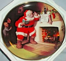 """Franklin Mint 1993 Coca Cola Santa """"The Pause That Refreshes"""" Plate 8"""" Hb7876"""