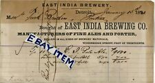1880 BHD EAST INDIA BREWING CO Detroit Michigan BEER BREWERY Ale Porter PRE PRO