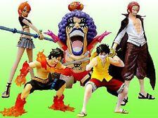 DG One Piece Luffy Ace Nami Gashapon figure set Bandai
