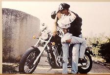 (PRL) 1991 RAGAZZO RAGAZZA MOTOCICLETTA  MOTO VINTAGE AFFICHE ART PRINT POSTER