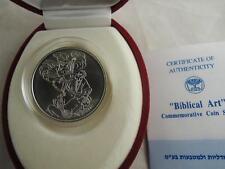 1994 BIBLICAL ART ABRAHAM`S WILLINGNESS BINDING of ISAAC BU COIN SILVER +BOX+COA