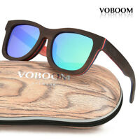 Men's Women's Bamboo Sunglasses Polarized Luxury Brown Skateboard Wood Eyewear