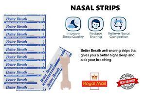 5 -500 BETTER BREATH NASAL STRIPS RIGHT EASY STOP ANTI SNORING UK BREATHE -Sleep