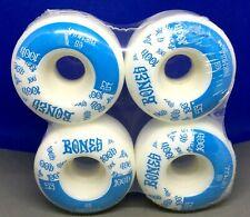 Powell  Bones 100's Skateboard Wheels white wheels 53mm in shrink blue graphics
