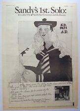 SANDY DENNY 1971 POSTER ADVERT NORTH STAR GRASSMAN AND THE RAVENS fairport