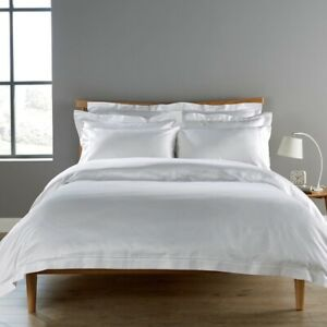Christy Deluxe Supima Sateen Picot White 900 Thread Count Kingsize Fitted Sheet