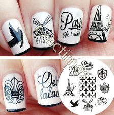 Nail Art Stamping Template BORN PRETTY France Theme Design Image Plate BP36