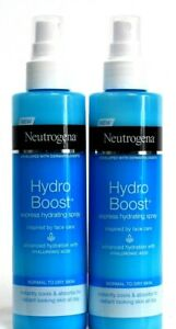 2 Neutrogena Hydro Boost Express Hydrating Spray Normal to Dry Cools 6.7 oz