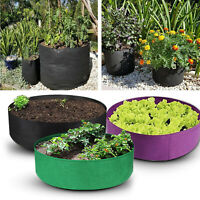 Garden Planting Grow Bag Fabric Round Planting Container Veg Flower Grow Bags
