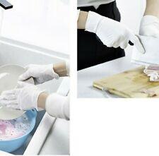 New listing 100x Universal Latex Nitrile White Gloves Kitchen Garden Work Hand Protector M/L