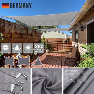DE Sonnensegel 3x4m Rechteck UV-Sonnen-Schutz Terrasse Balkon Wasserdicht