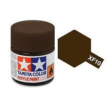 Tamiya Colore acrilico MARRONE OPACO pennello plastica metallo TAMIYA XF-10 10ml