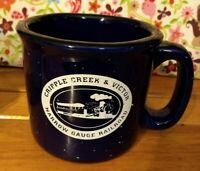 Cripple Creek & Victor Narrow Gauge Railroad Navy Blue Very Heavy Coffee Mug/Cup