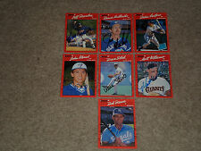 LOT OF (14) DIFFERENT 1990 DONRUSS BASEBALL SIGNED AUTOGRAPHED CARDS STARS+