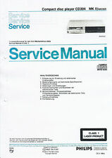 Service Manual Instructions for Philips CD 304 MKII
