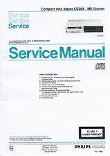 Service Manual-Anleitung für Philips CD 304 MKII